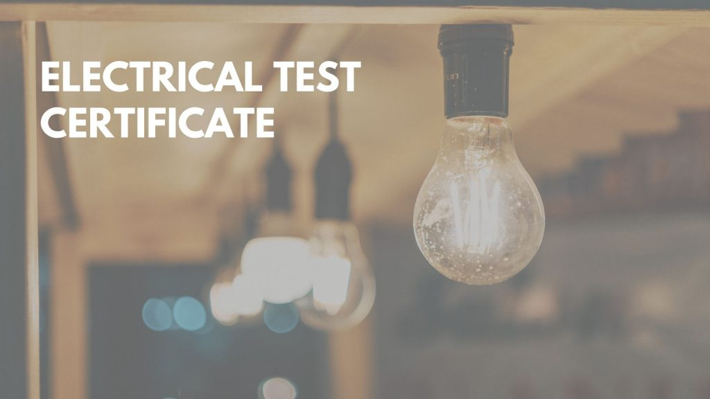 electrical test certificate