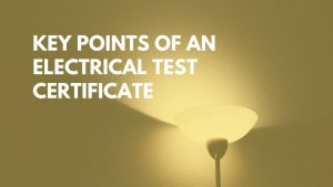 key points of an electrical test certificate